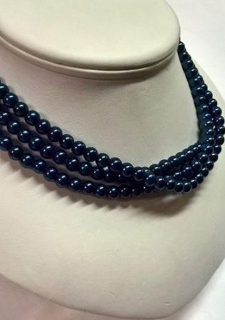 gyöngysor - tekla kék 6 mm