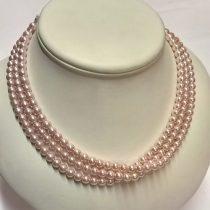 gyöngysor - tekla rózsaszín 6mm