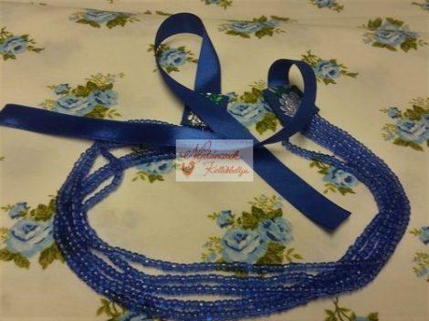 gyöngysor - kaláris kék