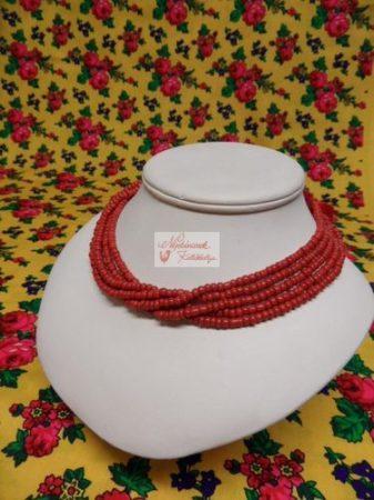 gyöngysor - kaláris piros