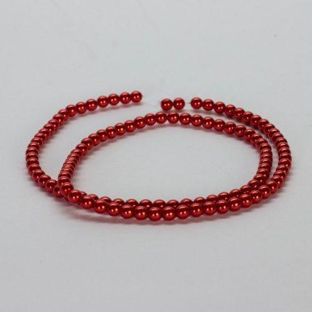 gyöngy - tekla üveg piros 4 mm
