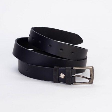Bőrszíj 4cm fekete