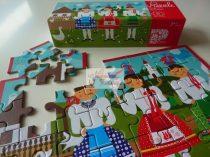 Piros játékok puzzle üveges tánc
