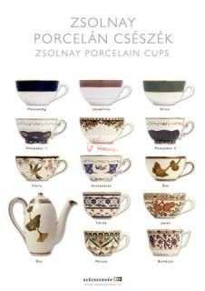 képeslap Zsolnay porcelán csészék