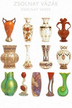 képeslap Zsolnay vázák