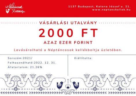 Vásárlási Utalvány 2000 Ft